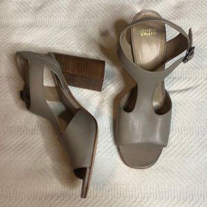Johnston & Murphy Gray Sandal Heels